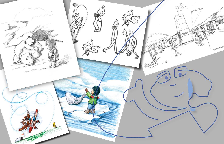 Skitser og illustrationer