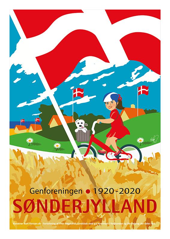 Plakat 50x70 Genforeningen