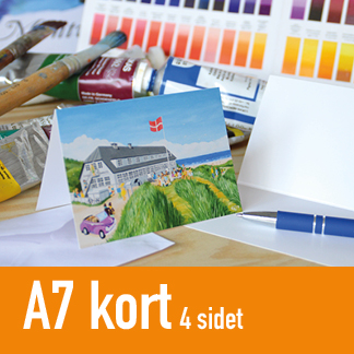Kunstkort A7 fire-sidet