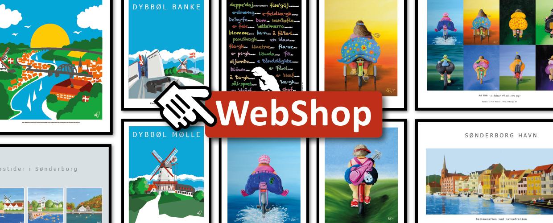 Nu kan du købe mine plakater og kunstprint direkte på min hjemmeside