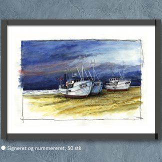 Thorup Strand 40x30 cm. 2417